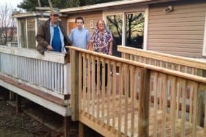 Lifespan Friendly Homes Program provides a new ramp.