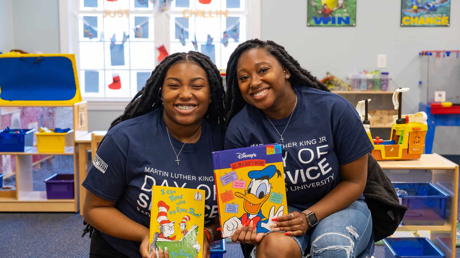 Students participating in the 2020 Radford University MLK Day of Service. Photo courtesy of the Radford University Center for Diversity and Inclusion